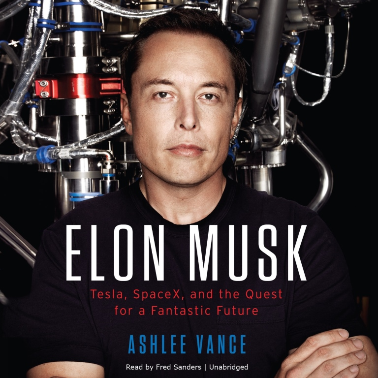 Cover image on Ashlee Vance's book on Elon Musk