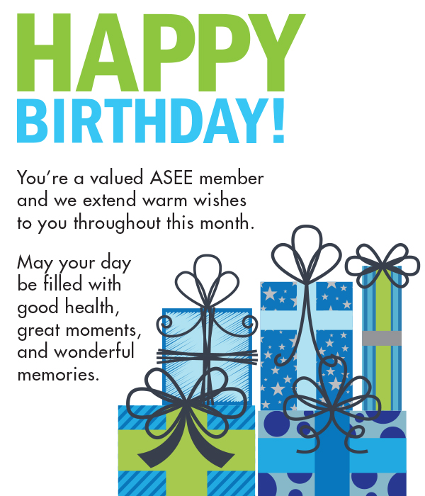 Birthday greetings from ASEE