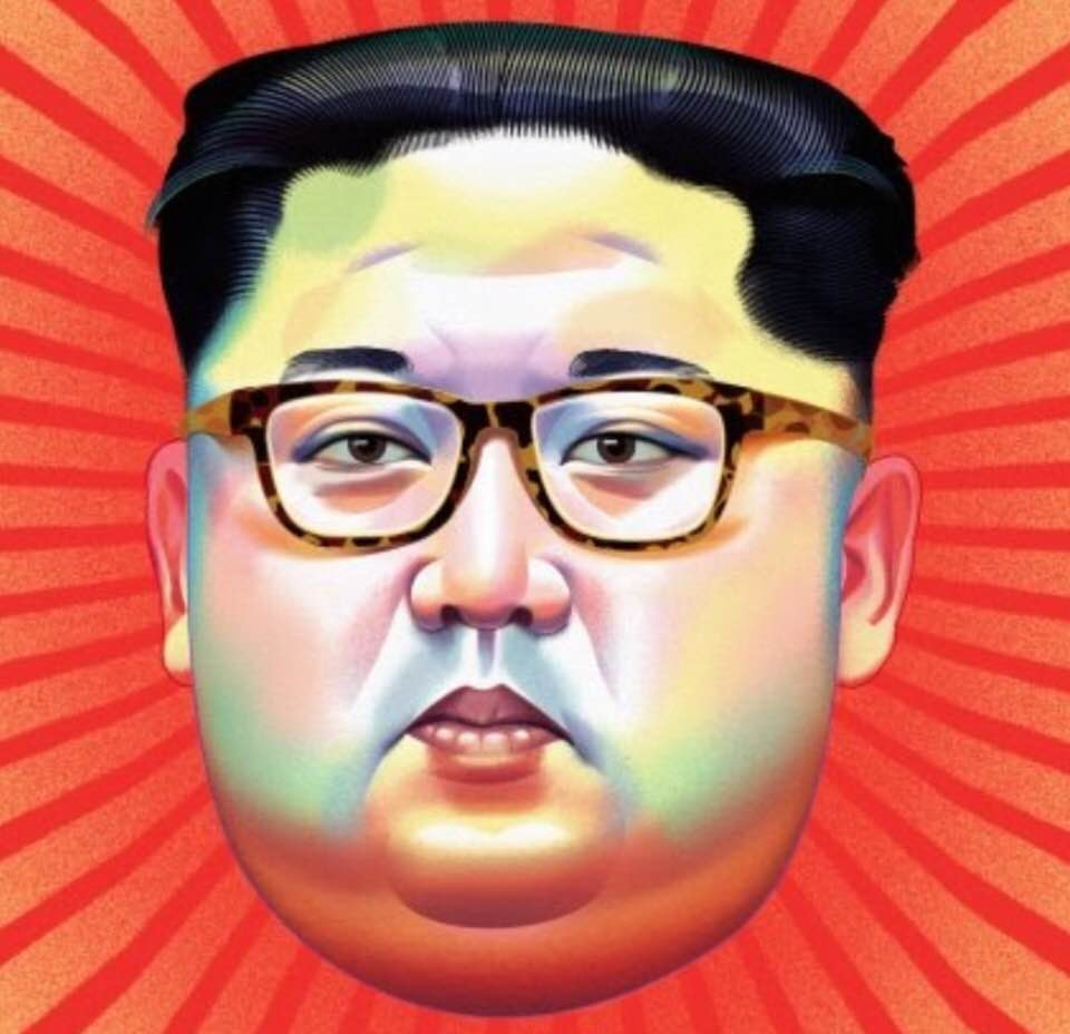 Behrooz Parhami Tessa Facial Tissue Reffil Looney Tunes Cartoon Portrait Of Kim Jong Un