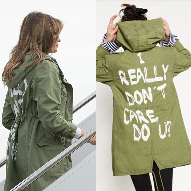 Melania Trump visits the border  How clueless do you have to be to wear  this ... c4e55e5d30b