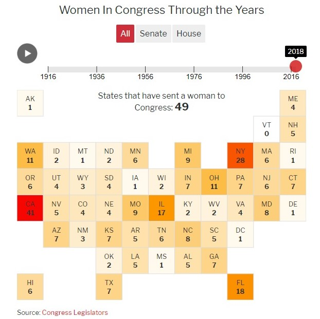 8eb8501581 Women in the US Congress  Map