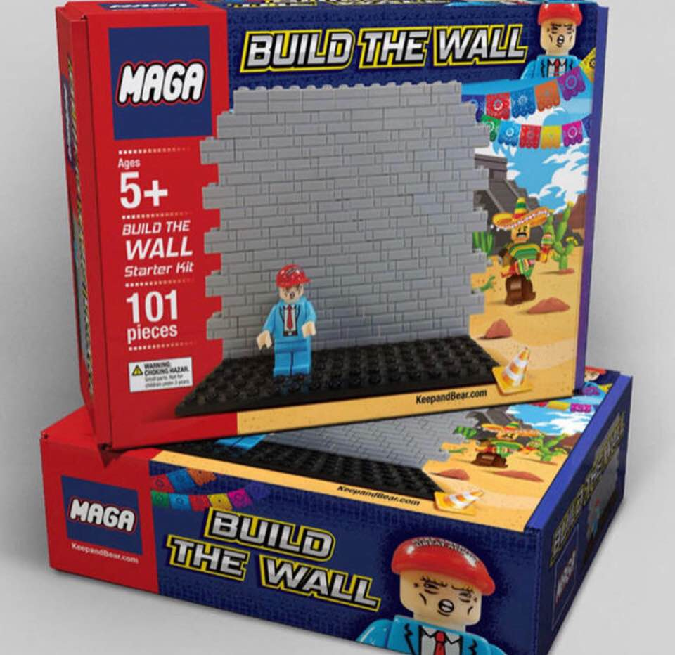 Behrooz Parhami Mao Mini Market Playset Pink Maga Wall Building Block Set