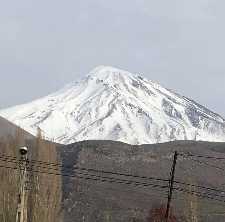 Mount Damavand A Dormant Volcano Which Is Irans Tallest Peak Shot From Poloor By