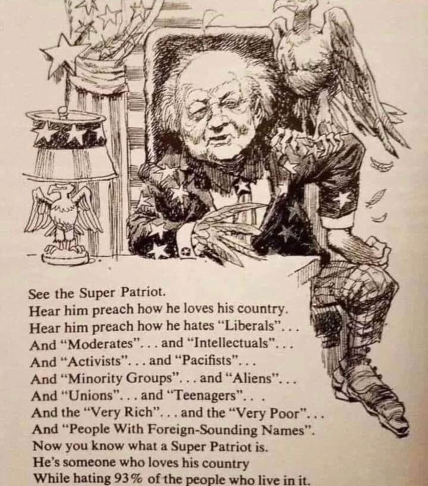 6104bd8da Meme on the problem of fake super-patriotism in the US ...