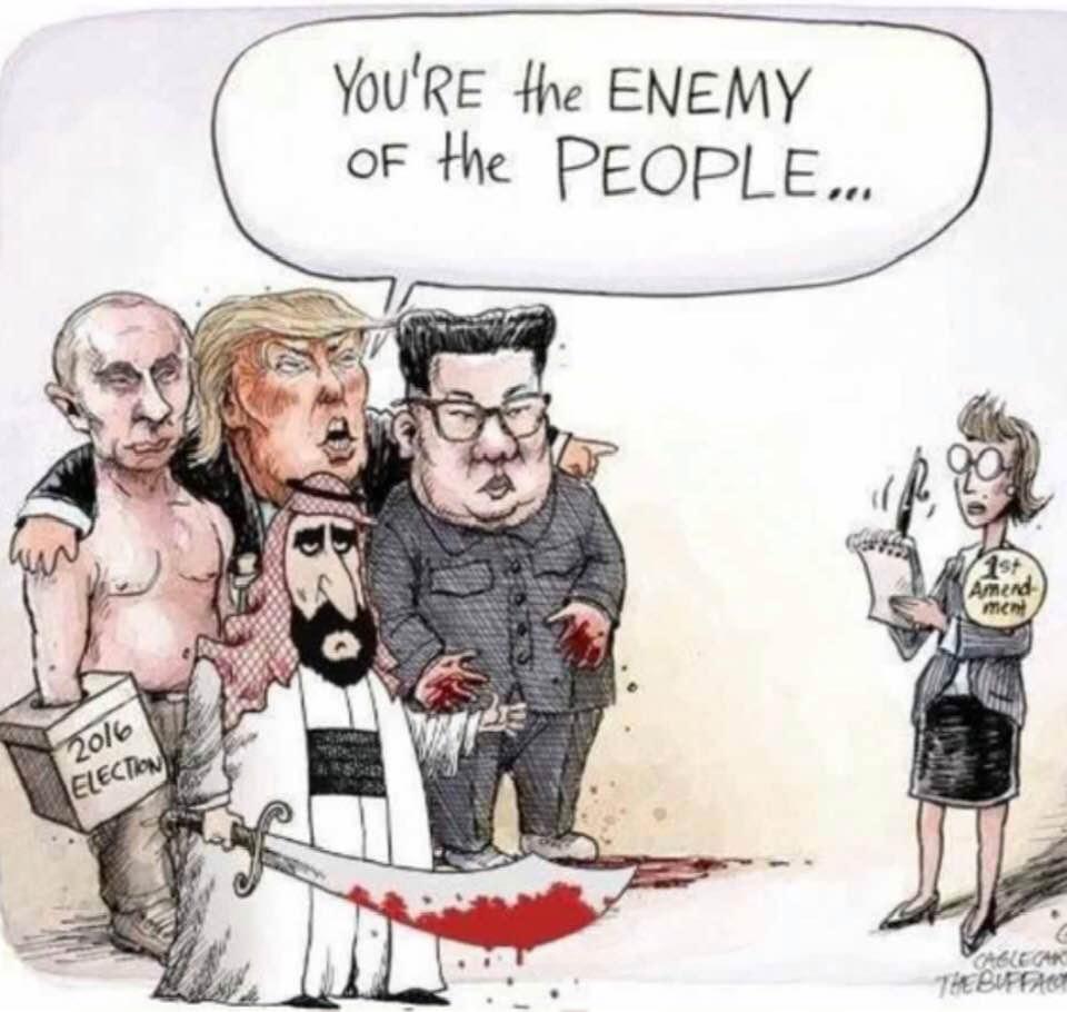 513135a5d Cartoon: Enemies of the People calling their critics 'Enemies of the  People'!
