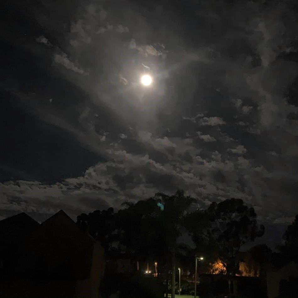 The full moon, shot from my bedroom window at 4:17 this morning