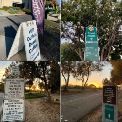 Photos I took during my walk in Goleta, CA, in the late afternoon of Wednesday, 2020/12/02: Signs
