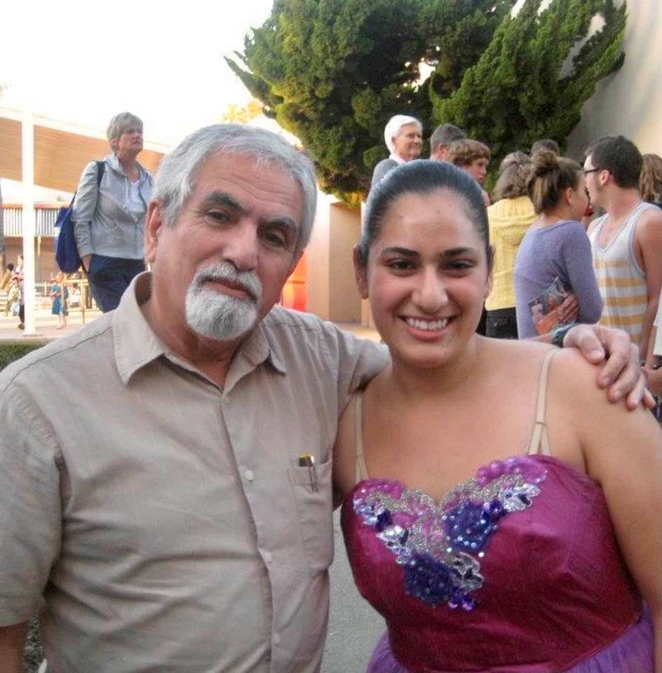 Memory from December 3, 2011: My daughter and I after her ballet performance
