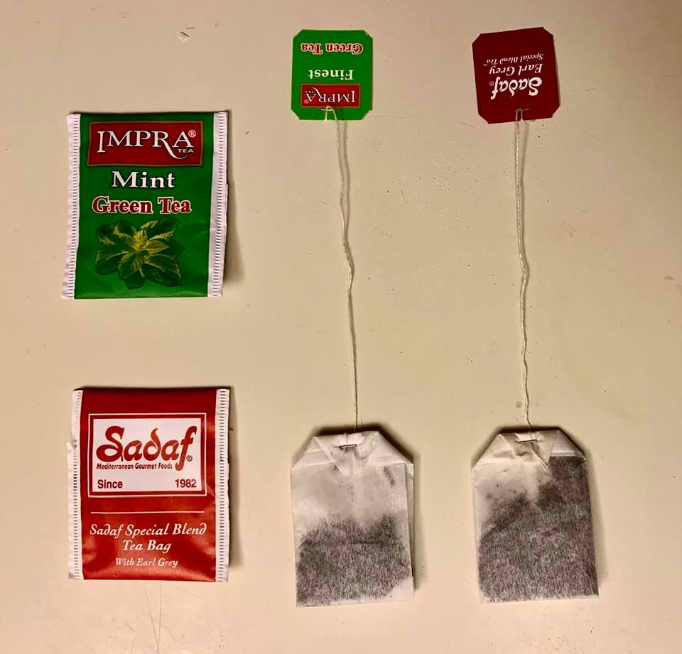 Tea bags with distinct brand names and allegedly manufactured in different countries are identical in many respects