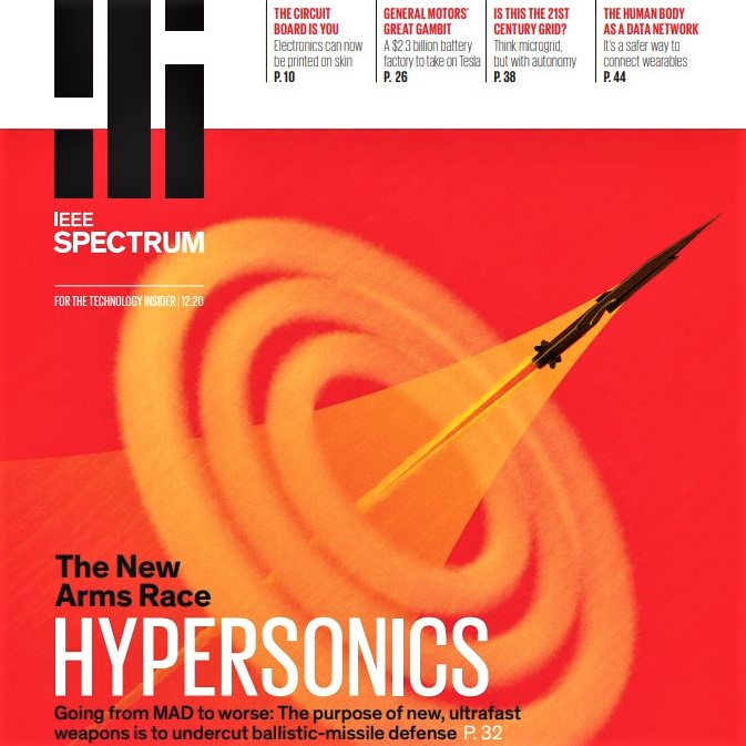Cover image of the December 2020 issue of 'IEEE Spectrum' magazine