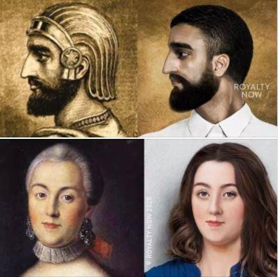 Artist Becca Saladin reimagines history's most-powerful figures: Cyrus & Catherine
