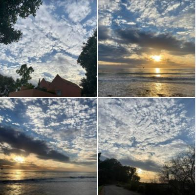 Photos I took during and after yesterday's walk: Beautiful clouds