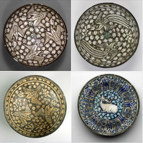 Iranian art: Gorgeous samples of pottery from Soltanabad, Arak