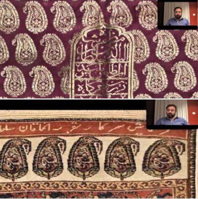 'The Beauty of Boteh' webinar: Screenshots 2 & 3