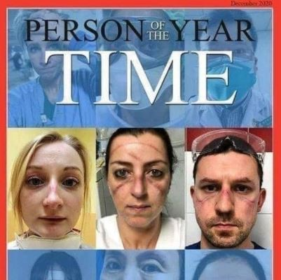 Time magazine's Person of the Year: Medical workers (cover image)