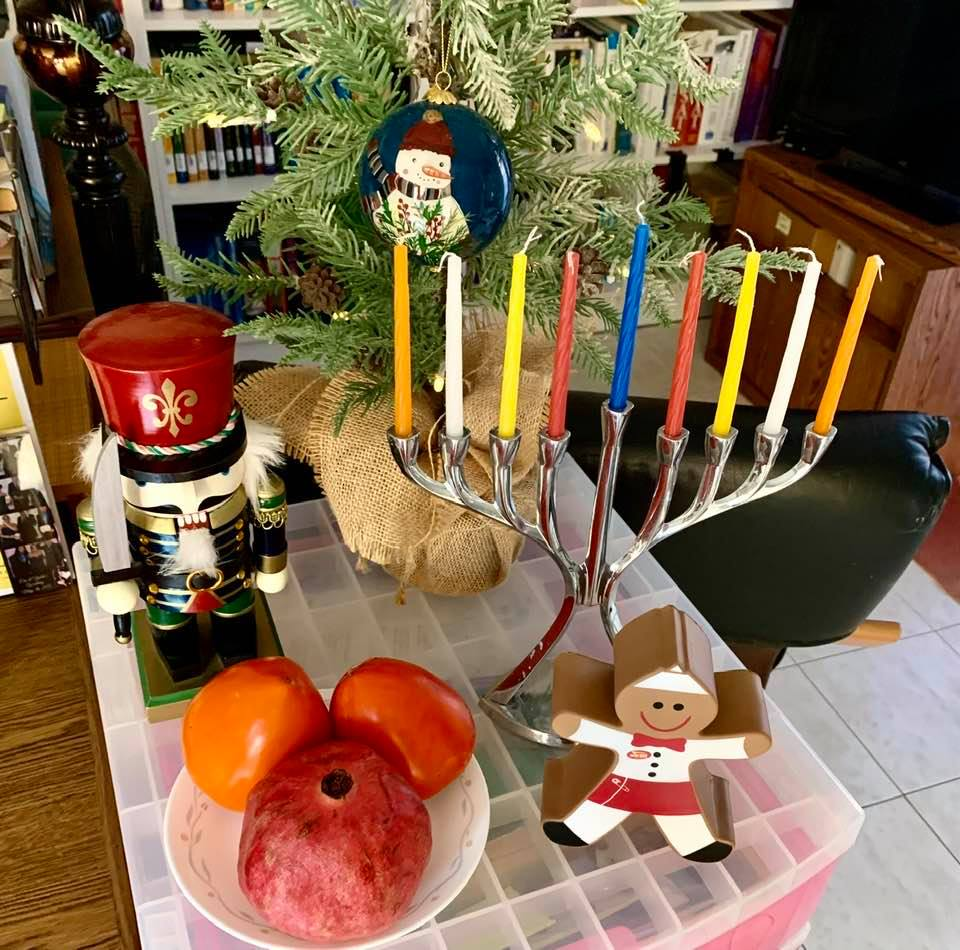 Beginning the last day of Hanukkah: Anticipating Shab-e Yalda in three days and Christmas Eve in a week