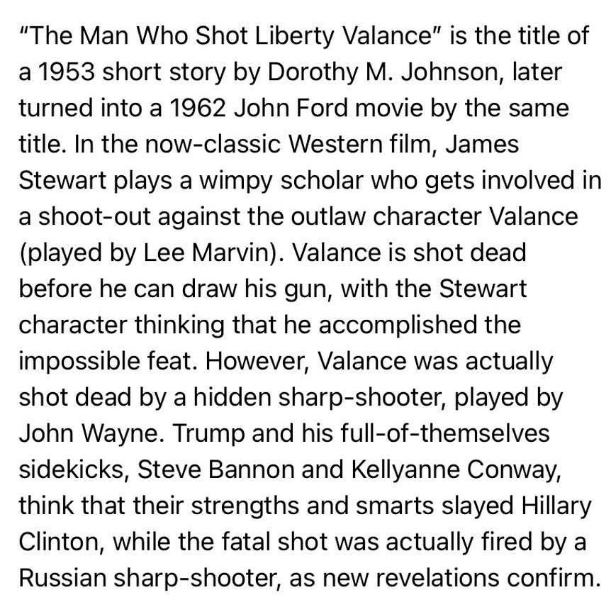 'The Man Who Shot Liberty Valance': The story