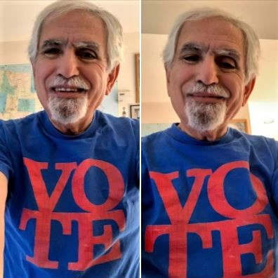 My holiday message to Georgians: T-shirt bearing the word 'VOTE'