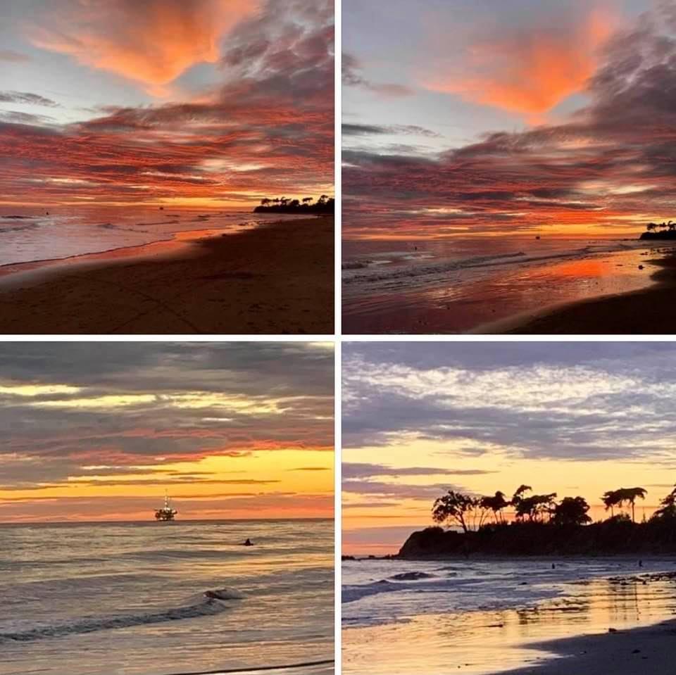 Photos of the gorgeous sunset on Christmas Eve 2020