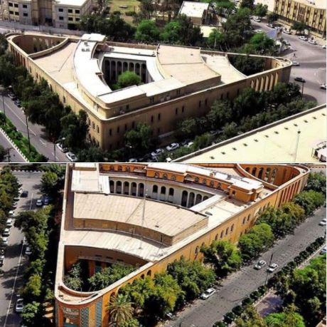 This famed triangular building in Ahvaz, Iran, has a long history