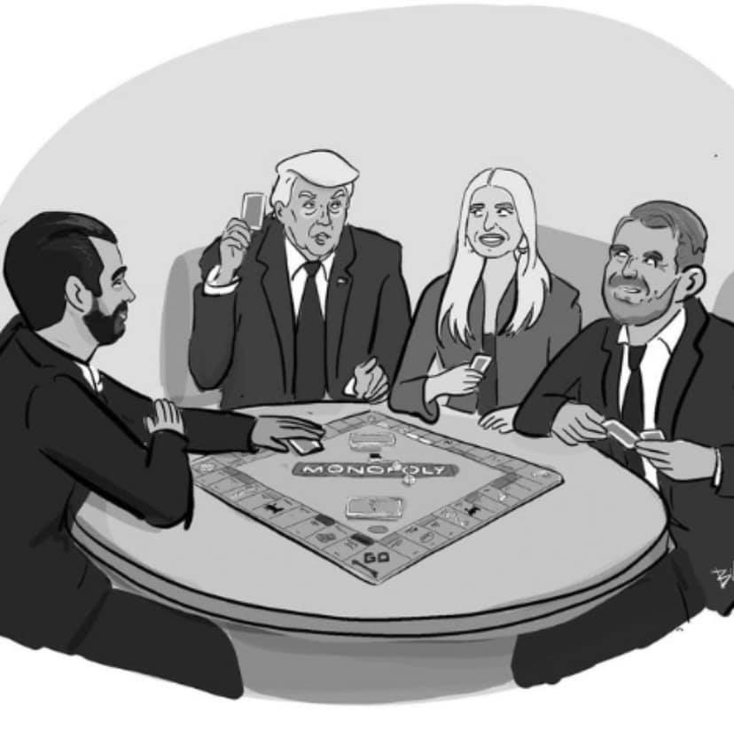 Cartoon: The Trumps play Monopoly (from 'The New Yorker')