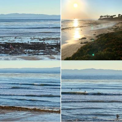The surf was pretty good too on the afternoon of Tuesday 2020/12/29