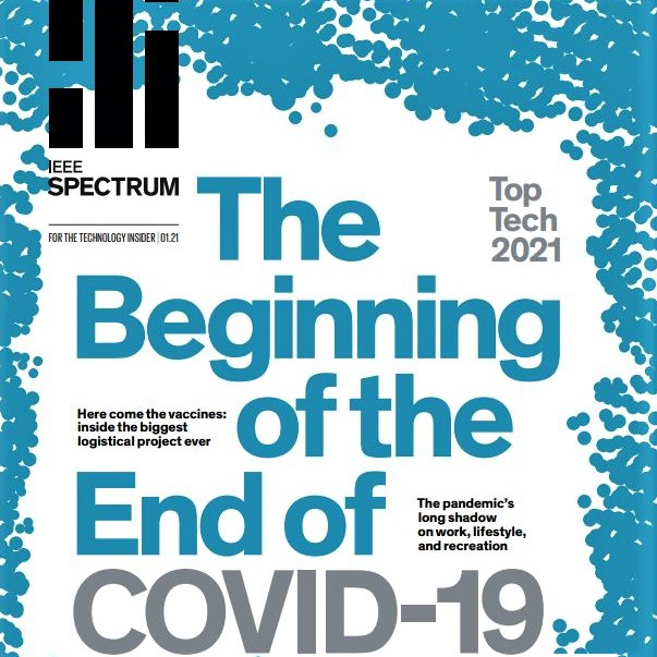 IEEE Spectrum magazine's annual technology review issue, January 2021, strikes an optimistic chord