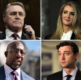 Candidates in Georgia Senate runoff races