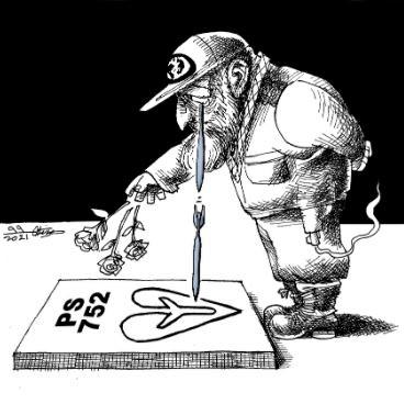 Cartoon: IRGC general 'honoring' his Flight PS752 victims