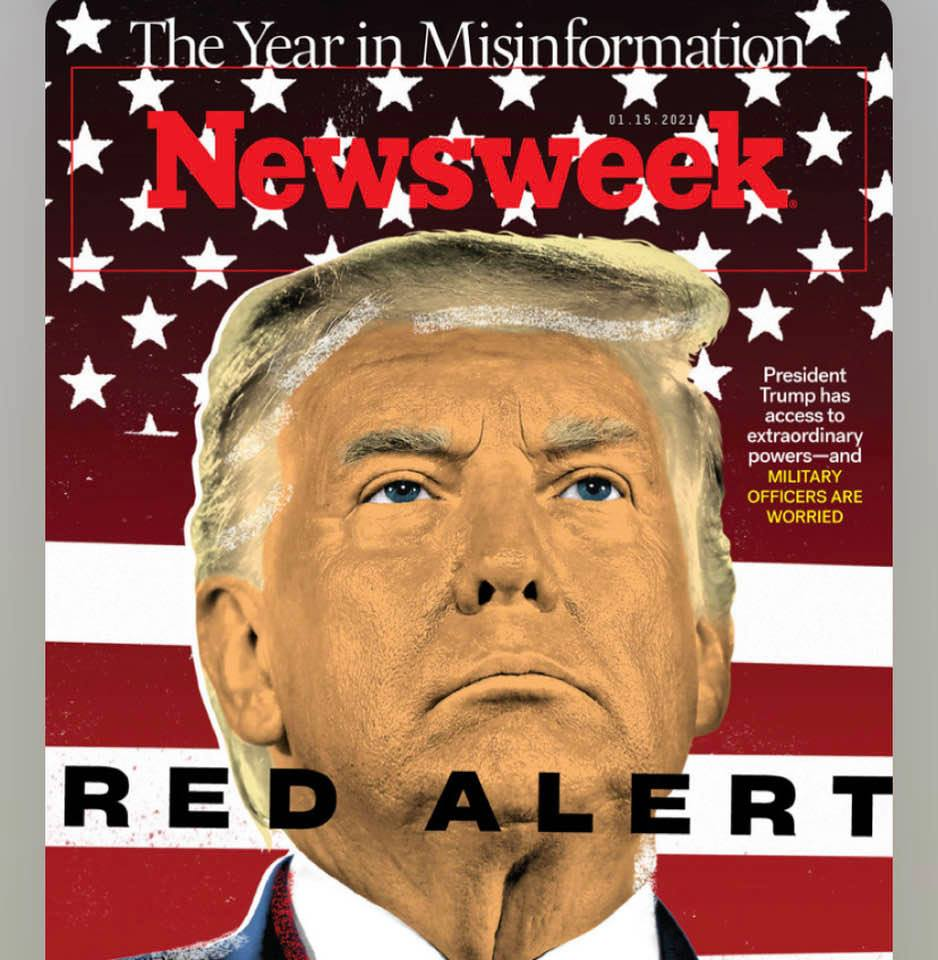 Donald J. Trump on the cover of Newsweek magazine: He is no longer just a joke; he is a serious threat!