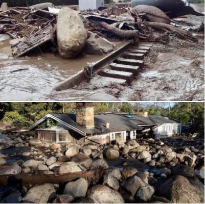 Remembering the devastating mud-flow in Montecito, just to the south of Santa Barbara: Photos from January 9, 2018