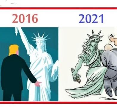 Cartoon: Lady Liberty to Trump: 'Enough is enough!'