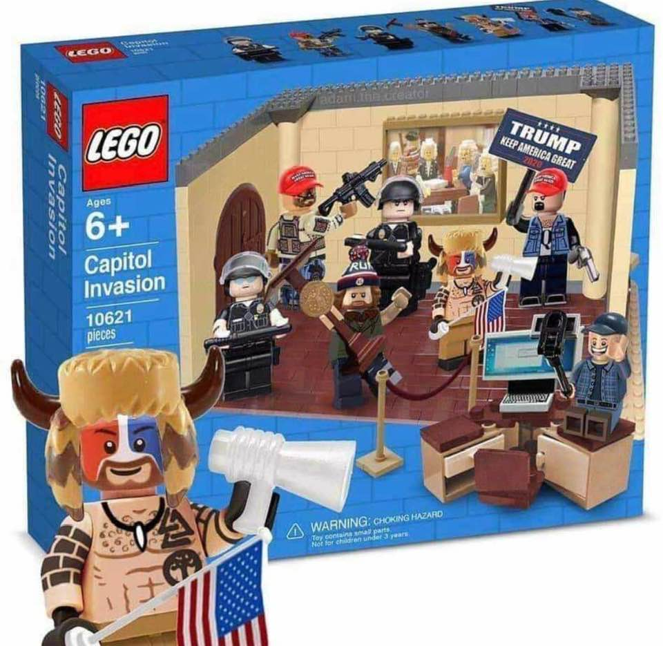 Just out: MAGA 'Capitol Invasion' Lego blocks set!