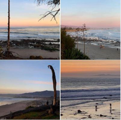 Surfing on Goleta's Coal Oil Point Sand Beach: Monday, January 11, 2021.