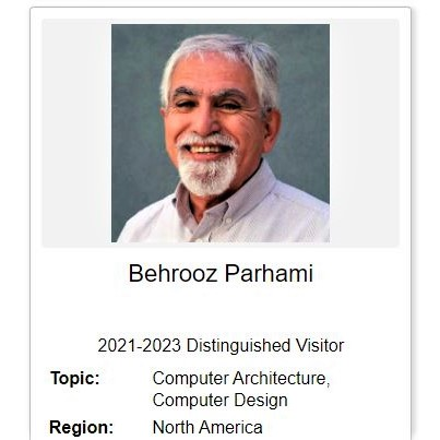 My profile on IEEE Computer Society's Distinguished Visitors Program Web site