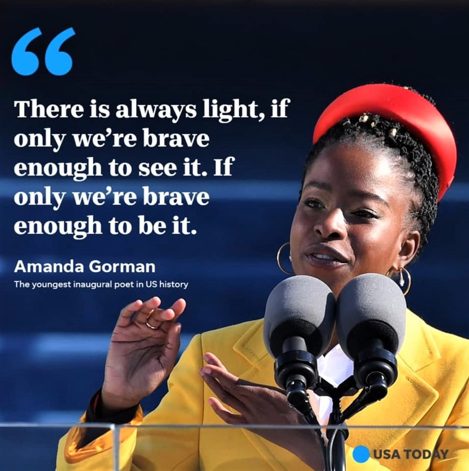 Amanda Gorman, the youngest poet-laureate ever at a presidential inauguration