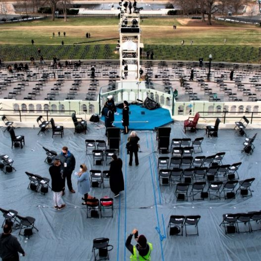 Inauguration stage at the US Capitol