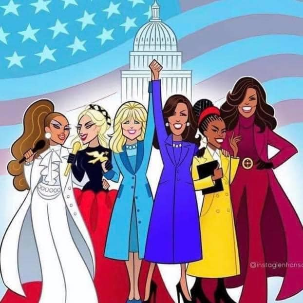 Women were front and center at the Biden/Harris inauguration