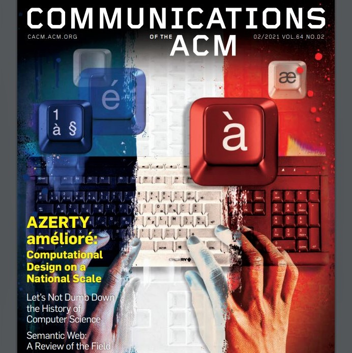 Cover image of the February 2021 issue of 'Communications of the ACM'