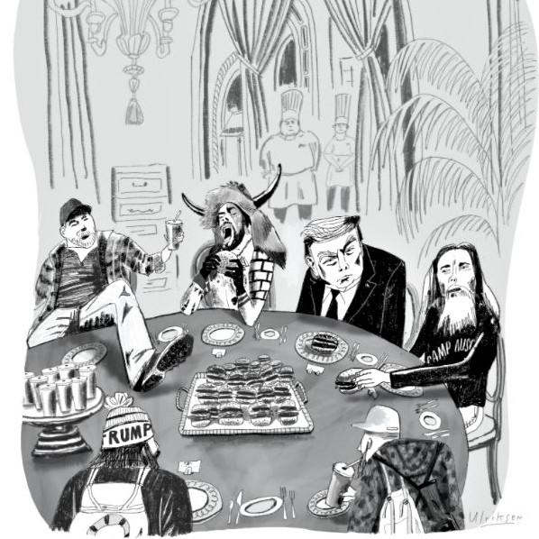 Cartoon: Trump entertaining friends at Mar-a-Lago