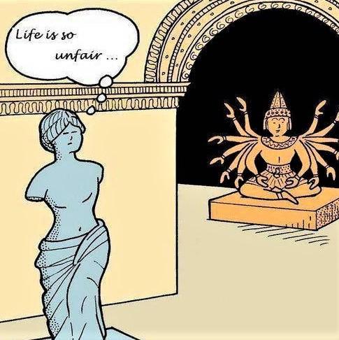 Cartoon: Life is so unfair ...