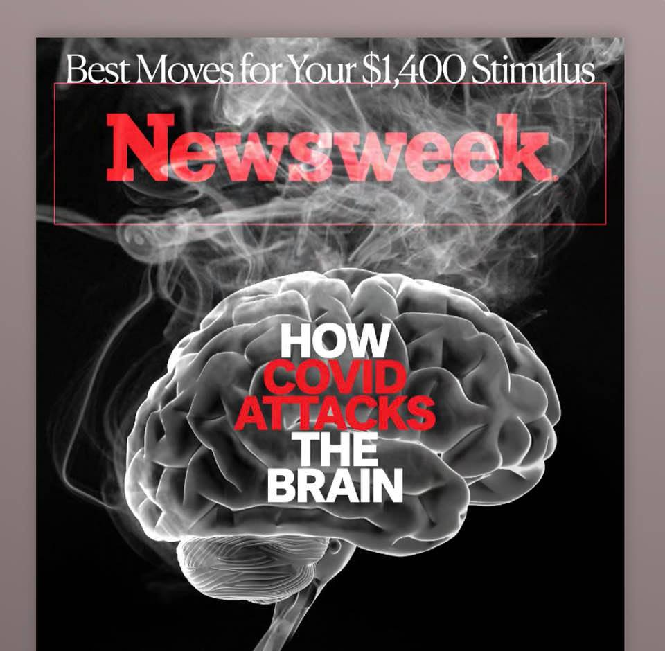 Newsweek magazime cover: The long-term cost of COVID-19 in dementia and other brain disorders