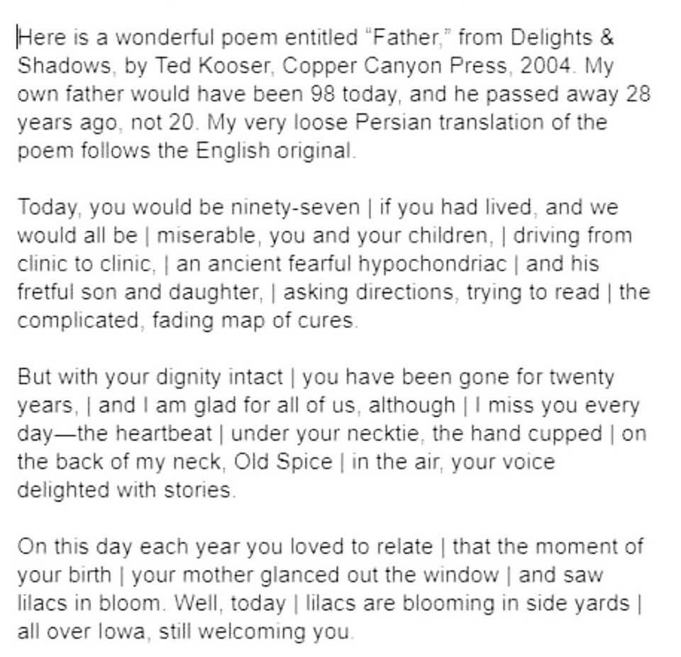 Commemorating the 29th anniversary of my dad's passing: English poem