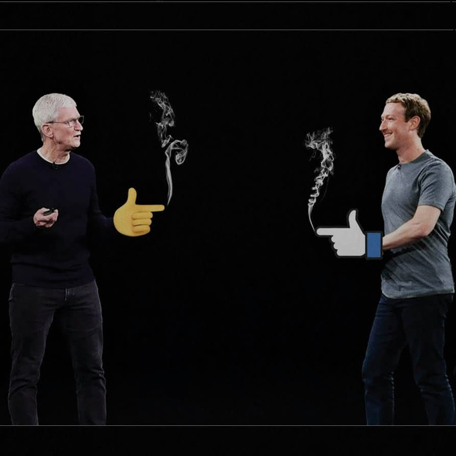 Dueling-giants meme: Apple and Facebook