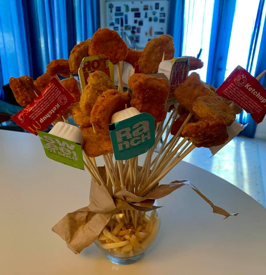 Valentine's Day special: My daughter's bouquet of chicken nuggets
