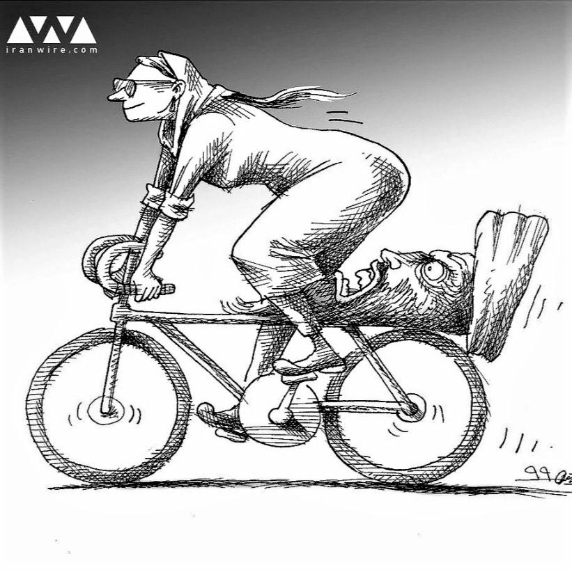 Cartoon: New seat design for Iranian women who ride bikes