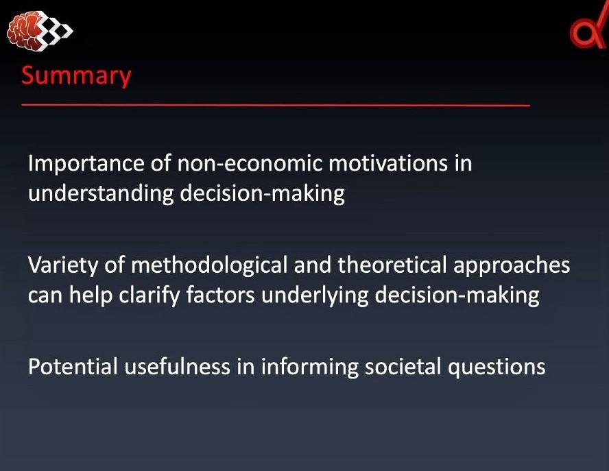 Webinar on social decision-making: Screenshot 3