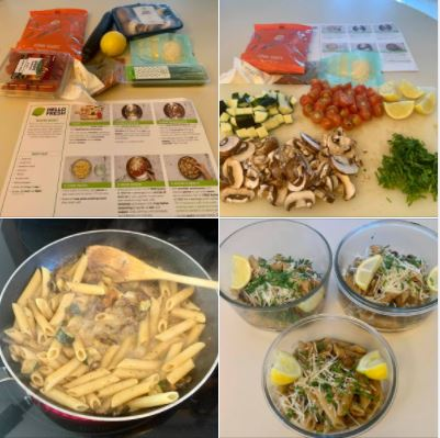Silky Sicilian Penne: Yesterday, I tried my hand at this vegetarian pasta dish from Hello Fresh