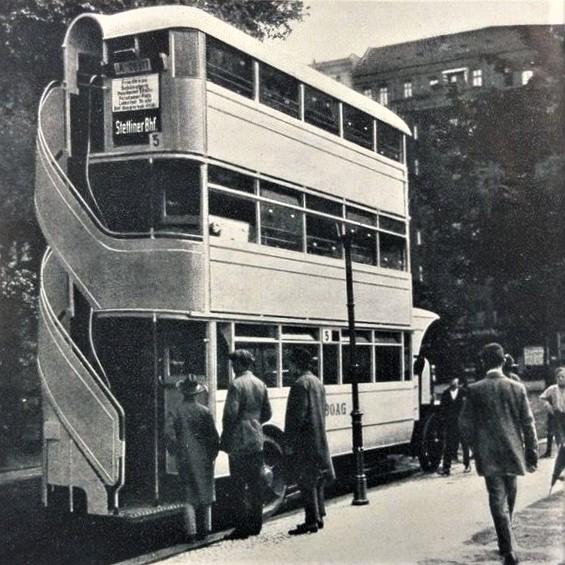 Triple-decker bus: Berlin, Germany, 1926