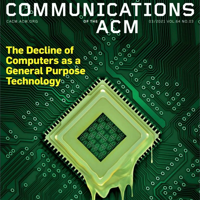 Cover image of the March 2021 issue of Communications of the ACM